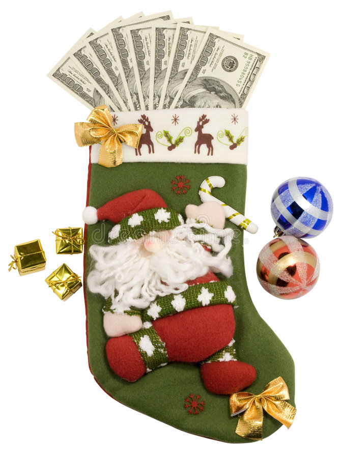 Download Stocking And Money Royalty Free Stock Image - Image: 7197936