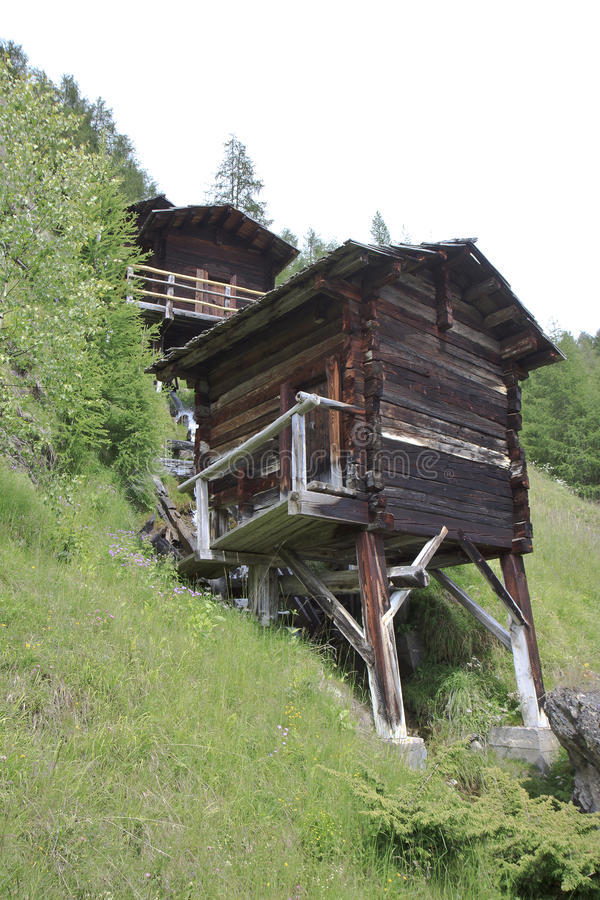 Stockmühlenmolens, Apriach in Hohe Tauern stock afbeelding