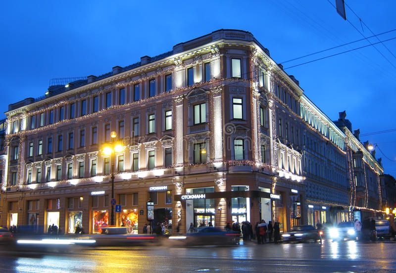 Download Stockmann On Nevsky. Saint-Petersburg. Russia Editorial Photo - Image of evening, pavement: 22494926