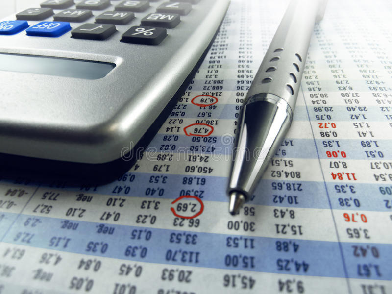 Stockmarket Calculation stock photography
