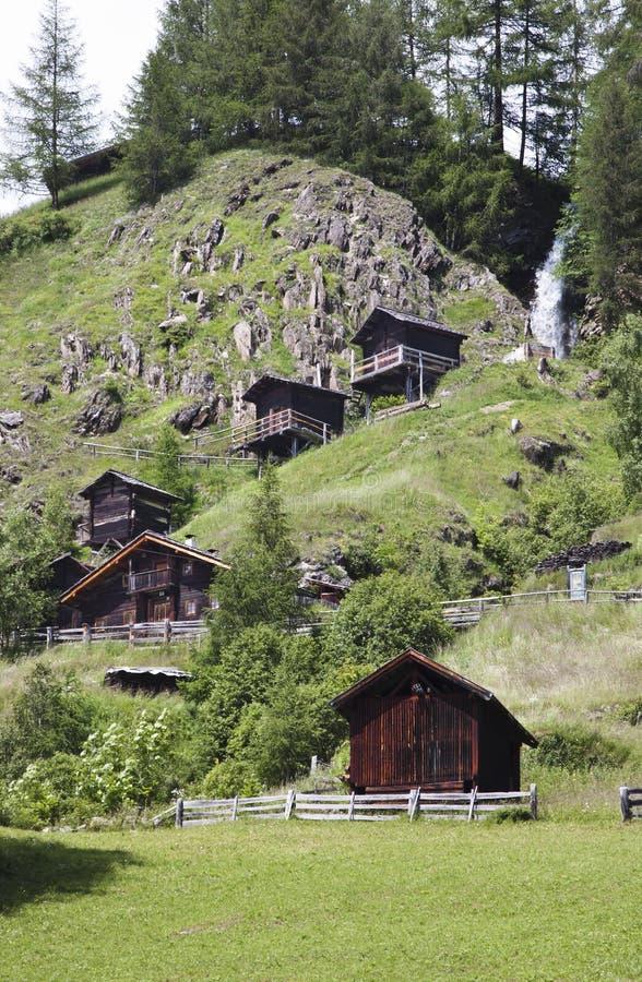 Stockmuhlenmolens in Apriach, Oostenrijk royalty-vrije stock afbeeldingen