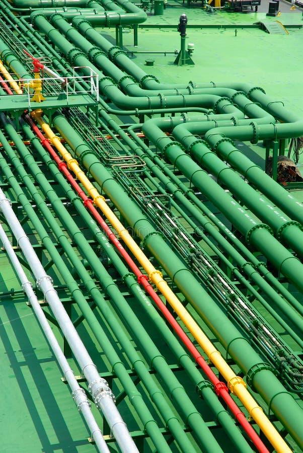 Stockphoto der petrochemischen Rohre lizenzfreie stockfotografie