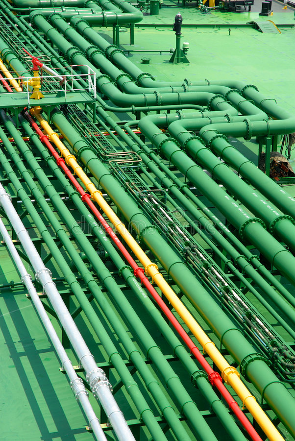 Stockphoto of petrochemical pipes royalty free stock photography