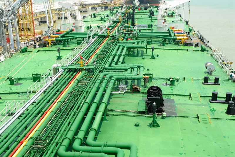 Stockphoto of pipes on vessel stock image