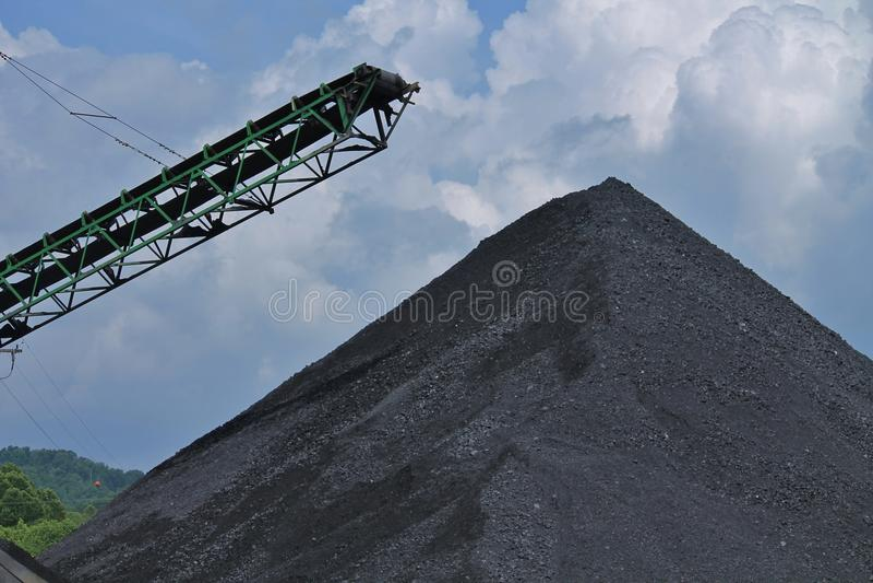 Stockpile of Coal royalty free stock photo