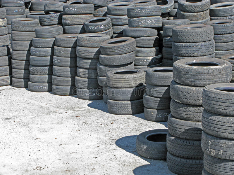 Stockpile of Used Tires. royalty free stock photo