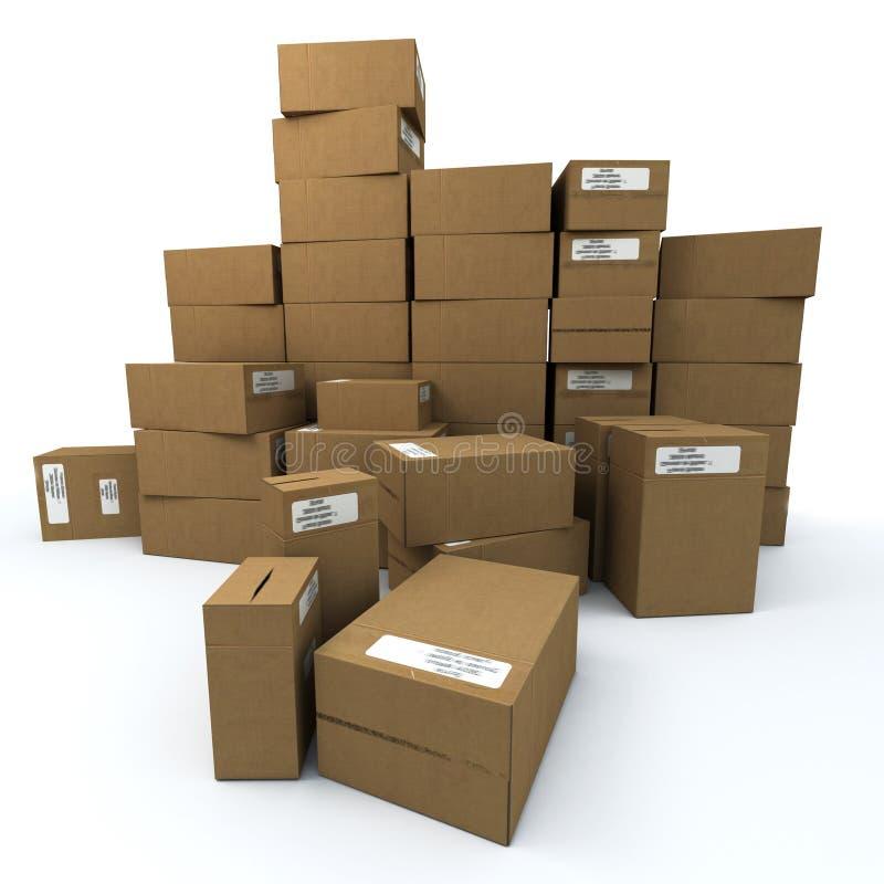 Download Stockpiling ilustração stock. Ilustração de pacote, empacotar - 10068244