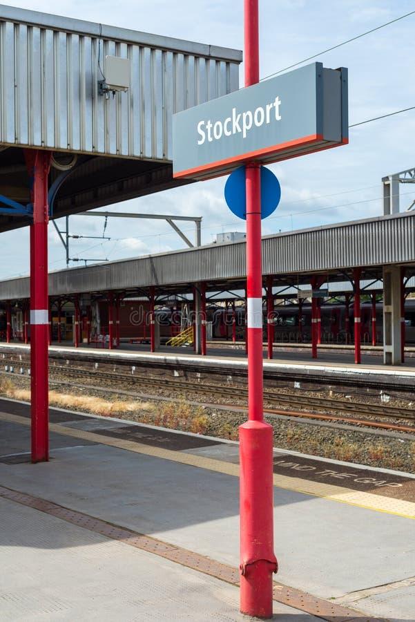 Stockport dworzec blisko Machester, Wielki Brytania obraz stock