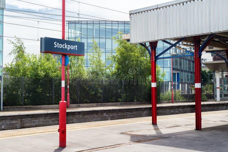 Stockport dworzec blisko Machester, Wielki Brytania obrazy royalty free