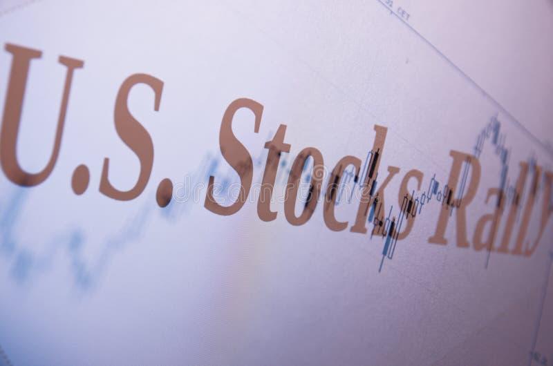 Stocks rally stock photos