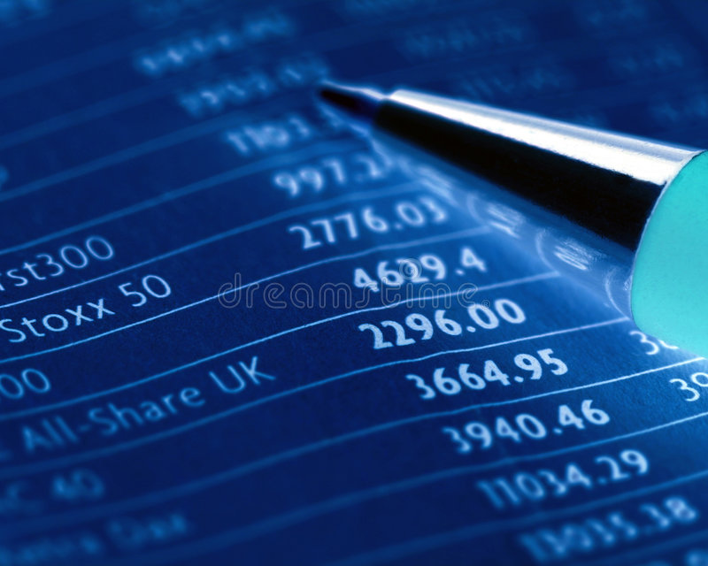 Stocks and shares stock photography