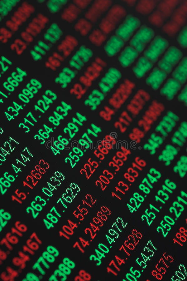 Stocks & Shares tickers stock image