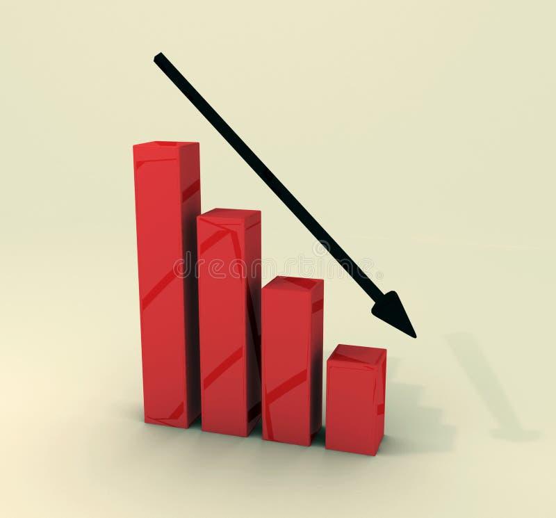Stocks vers le bas illustration de vecteur