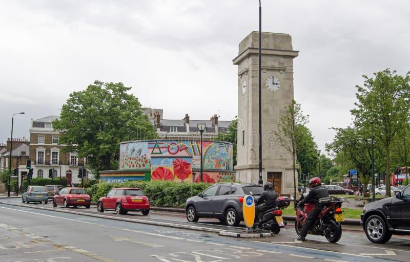 Stockwell-Turm, London stockbilder