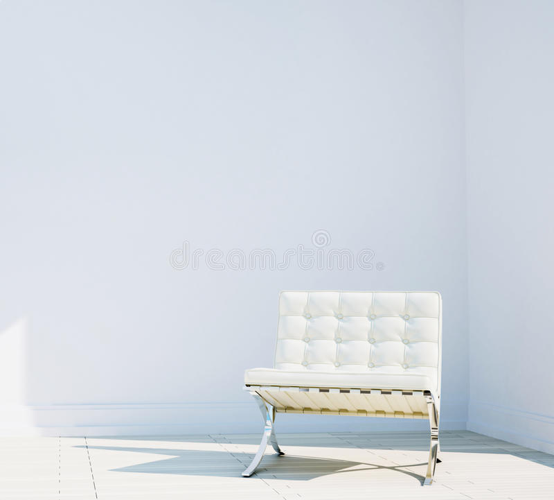 Stoel in modern comfortabel binnenland stock afbeeldingen