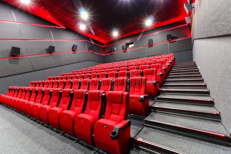 Stoelen in een theater royalty-vrije stock afbeeldingen