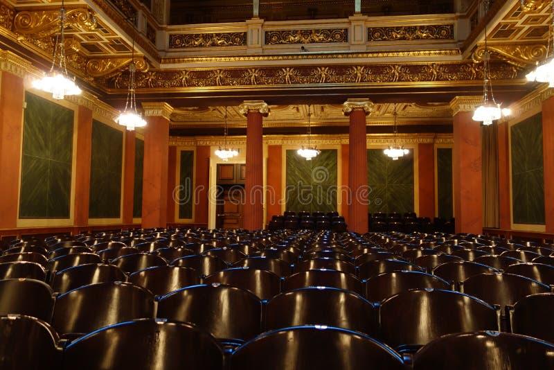 Stoelen in theater royalty-vrije stock foto