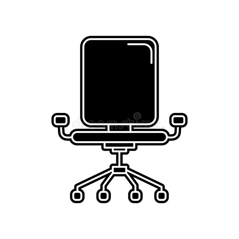 stoellijn iconicon Element van huishouden voor mobiel concept en webtoepassingenpictogram Glyph, vlak pictogram voor websiteontwe royalty-vrije illustratie