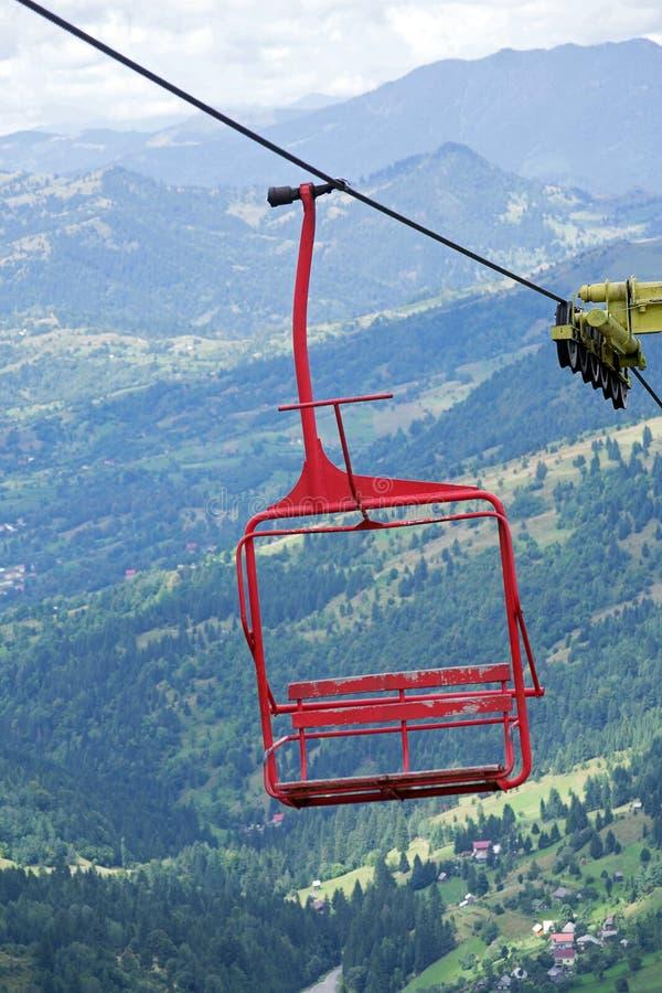 stoeltjeslift stock afbeelding