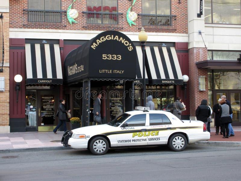 Stoep bij het Restaurant dat van Maggiano wordt heropend ` s stock foto's