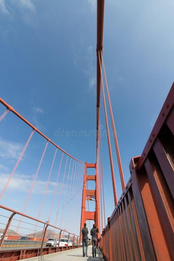 Stoep in Golden gate bridge royalty-vrije stock afbeelding