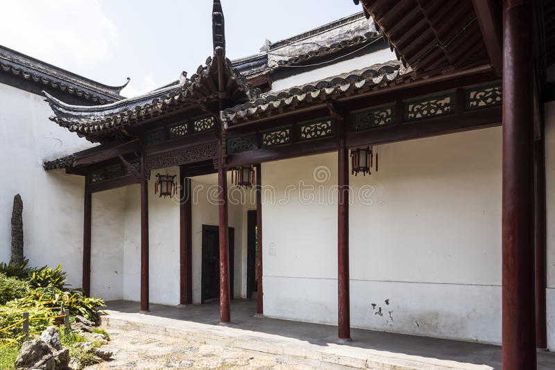 Stoep in Nanjing Ming dynasty palace - zhan garden. This photo was taken in Zhan Garden,Nanjing city,Jiangsu province,china.Photo taken on:Aug 7th,2015 royalty free stock photos