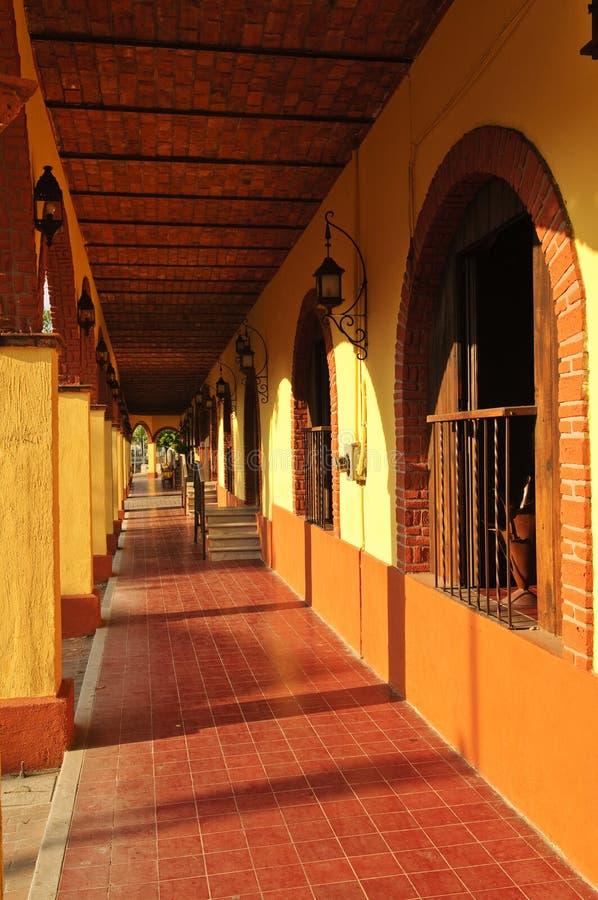 Stoep in Tlaquepaque, Guadalajara, Mexico royalty-vrije stock afbeeldingen