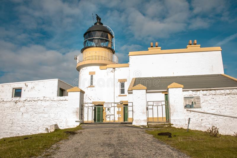 Stoer Lighthouse on Stoer Head north of Lochinver stock photo