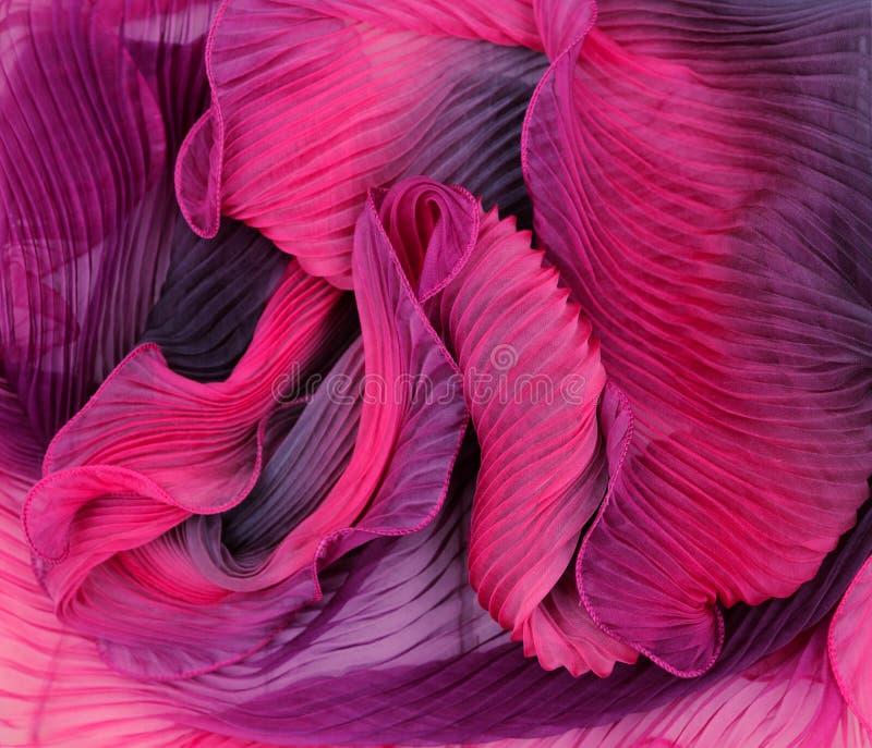 Stof van textuur de Abstracte golven ofpink stock foto