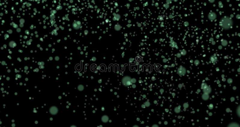 Stofdeeltjes bokeh achtergrond lichtgroene modieuze het gloeien colo stock afbeelding