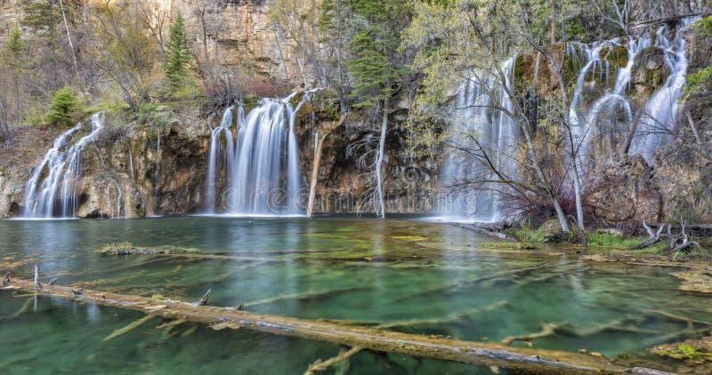 Stoff Colorado Paradise an hängendem See stockfotografie
