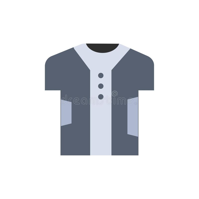 Stoff, Kleidung, Digital, elektronisch, Gewebe-flache Farbikone Vektorikonen-Fahne Schablone lizenzfreie abbildung