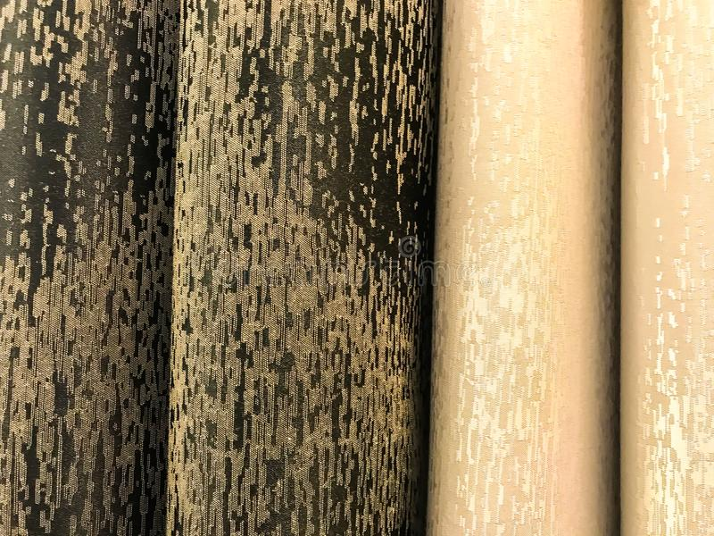 Stoffen Van Verschillende Kleuren Voor Gordijnen Stock Afbeelding ...