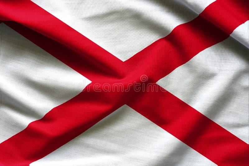 Stoffentextuur van de Vlag van Alabama - Vlaggen van de V.S. stock foto's