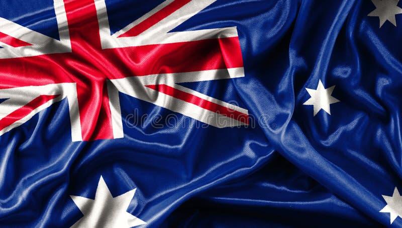 Stoffentextuur van de vlag Australië royalty-vrije stock afbeelding