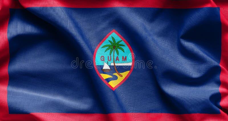 Stoffentextuur van de Vlag van Guam stock afbeelding