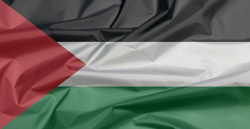 Stoffenvlag van Palestina Vouw van de vlagachtergrond van Palestina royalty-vrije stock afbeeldingen