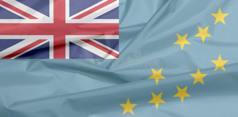 Stoffenvlag van Tuvalu Vouw van Tuvalu vlagachtergrond royalty-vrije stock fotografie