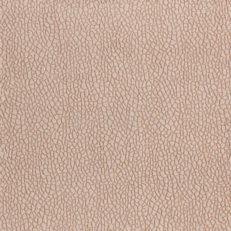 Stofferings naadloze textuur van synthetisch zacht beige fluweel met klein clusterspatroon stock fotografie