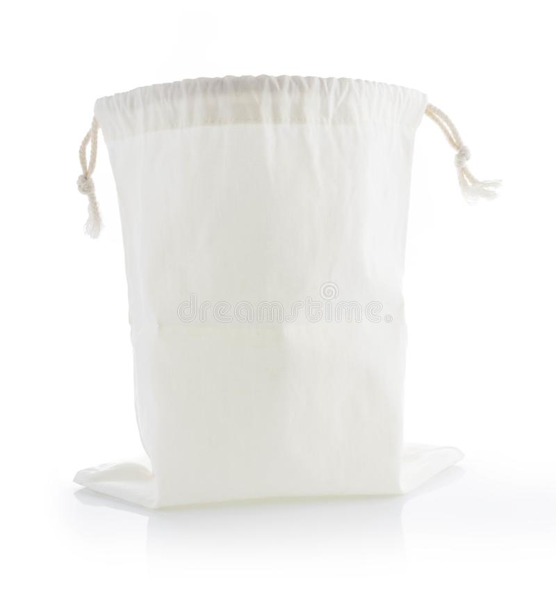Stofftasche lokalisiert auf Weiß lizenzfreies stockfoto
