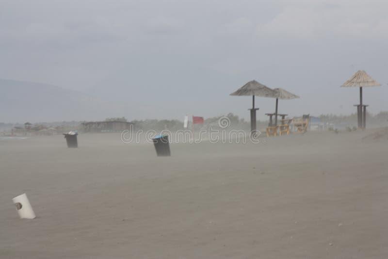 Stofstorm op de overzeese kust royalty-vrije stock foto