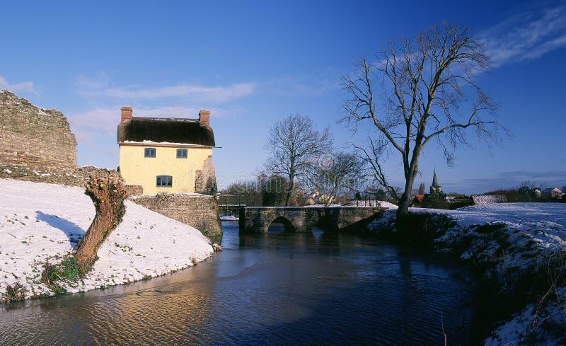 Stogursey城堡, Somerset 库存图片