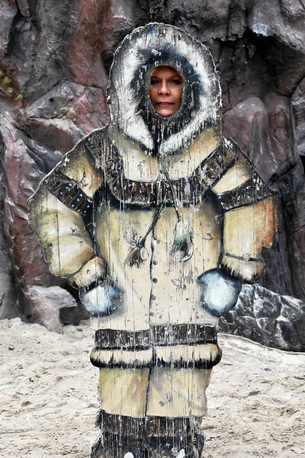 Stoi up eskimo atrapa obraz royalty free