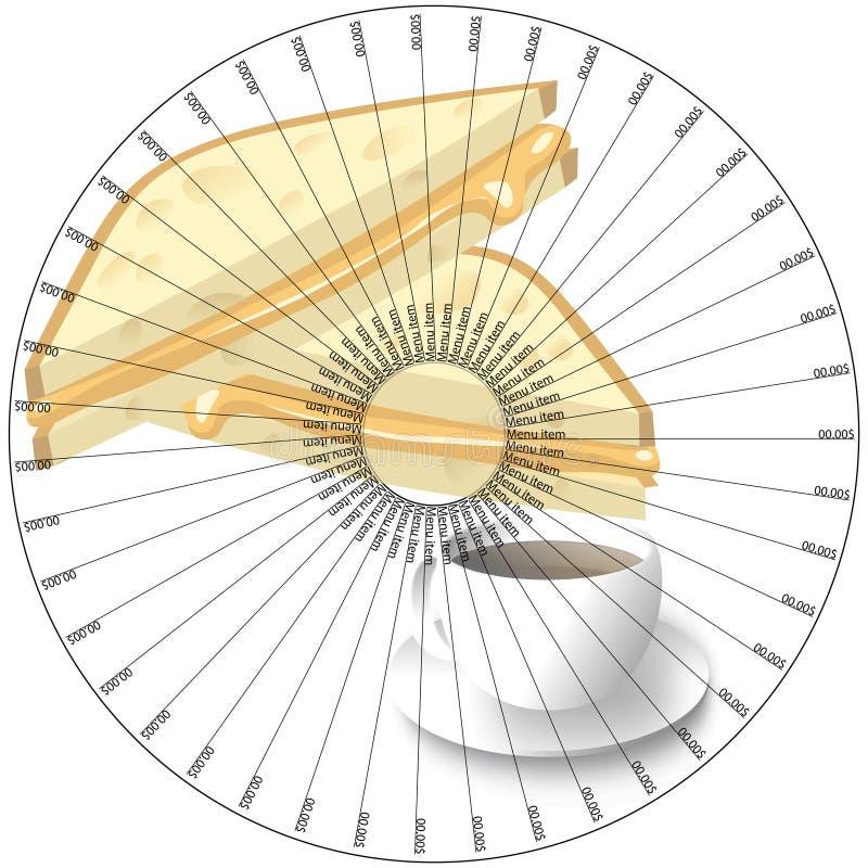 Stojak dla naczynia w restauraci lub pizzeria ilustracji
