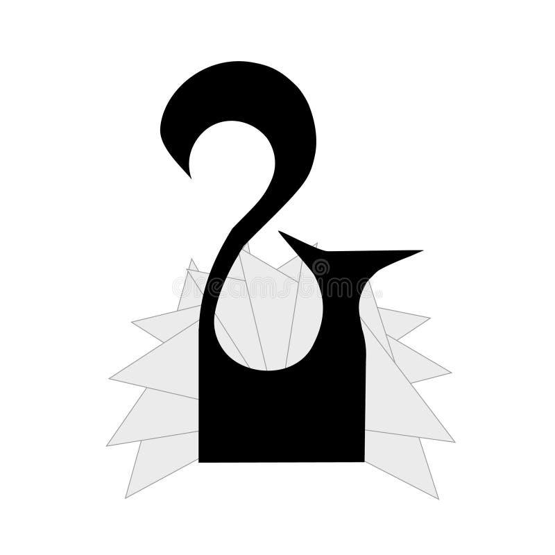Stojak dla pieluchy w postaci lisa royalty ilustracja