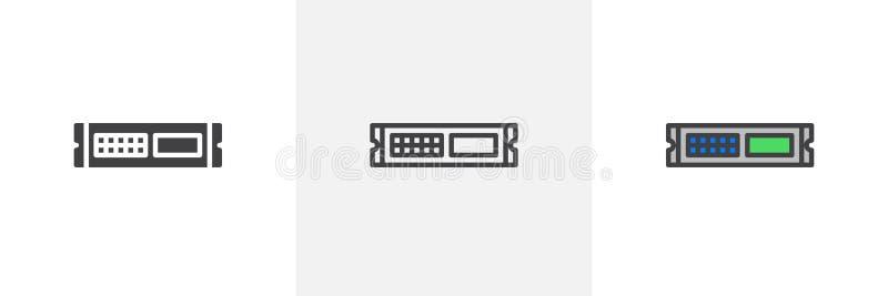 Stojak jednostka, serwer ikona royalty ilustracja