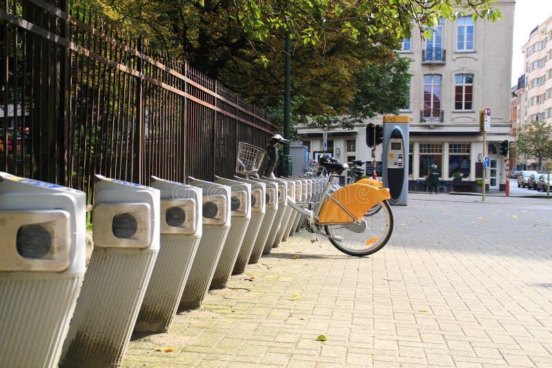 Stojak roweru czynsz fotografia royalty free