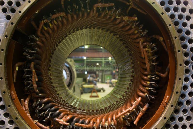 Stojan duży elektryczny silnik obrazy stock