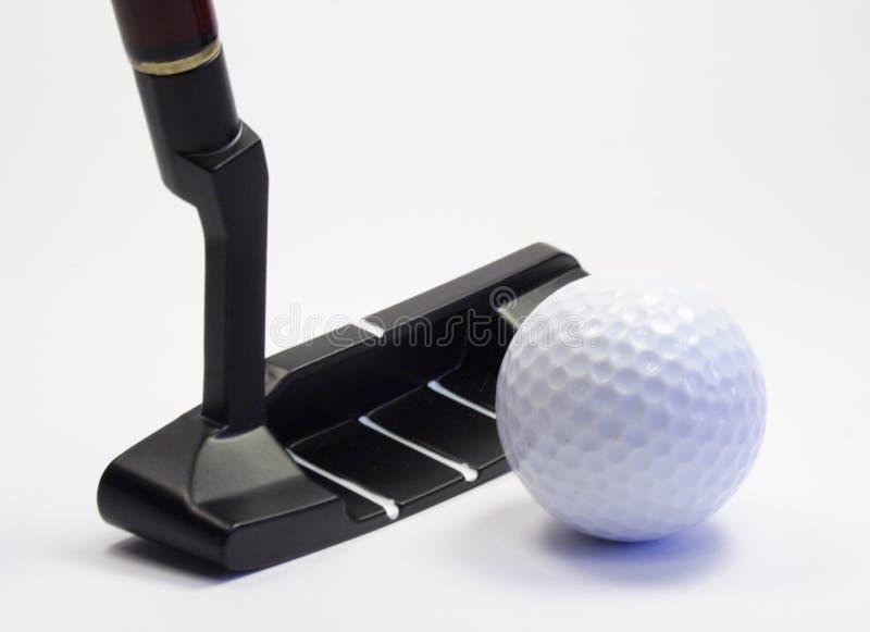 Stok en bal voor een golf royalty-vrije stock foto's
