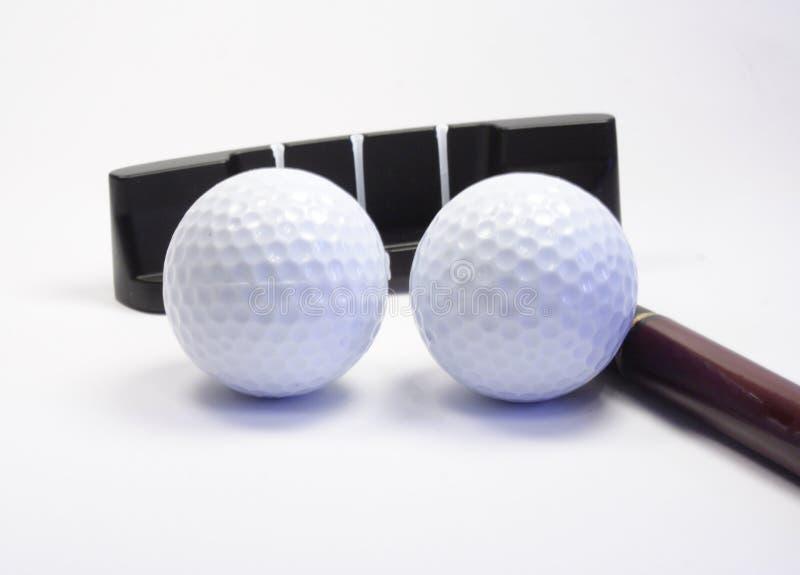 Stok en bal voor een golf royalty-vrije stock afbeelding